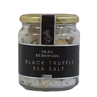 Buy Olea Europaea Italian Black Truffle Sea Salt at Olivetreetrading.com. Coarse Sea Salt from Italy flavoured with black truffle, the perfect balance between salty, earthy and rich flavours.
