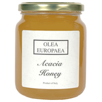 Olea EuropaeaItalian Acacia Honey has a floral, delicate flavor. With antimicrobial properties, it helps to stimulate appetite.